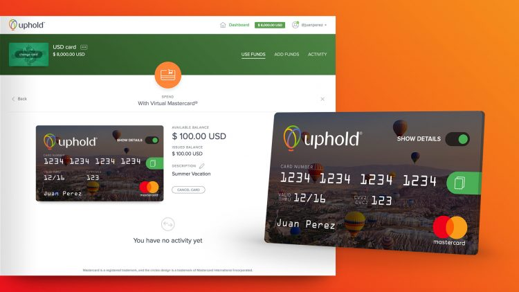 Uphold card